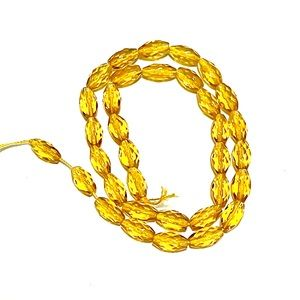 """New Faceted Citrine 16"""" Bead Strand"""